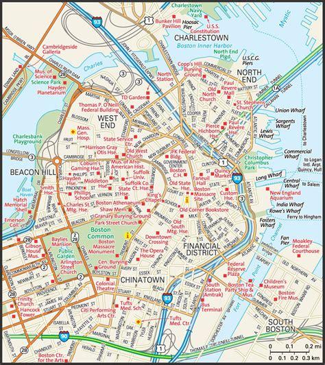 map  downtown boston downtown boston street map