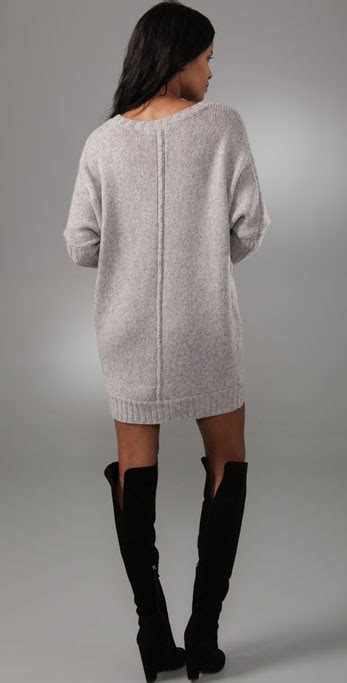 Lyst - Bcbgmaxazria Oversized Sweater Dress in Gray