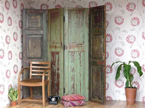 Vintage Wooden Room Divider Screen