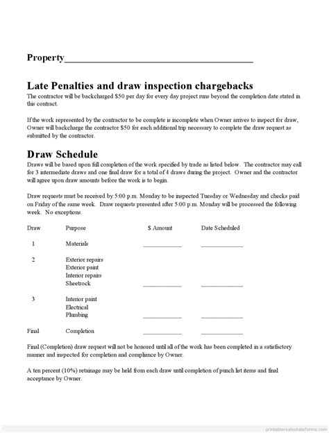 printable subcontractor agreement form word