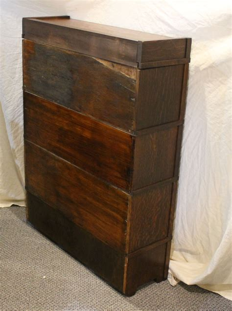 3 Foot High Bookcase by Bargain S Antiques Oak Arts Crafts Mission 3 High