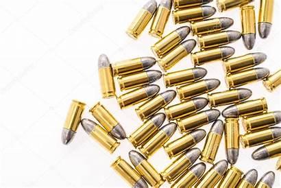 9mm Balle Fond Pistolet Blanc Gun Bullet