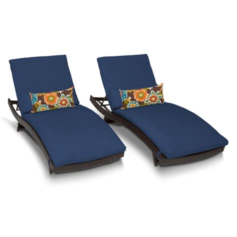 chaise navy tk classics bali chaise set of 2 outdoor wicker patio