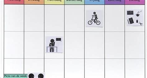 inrichting huis autisme planbord thuis maken l oefenen voor school nl planborden