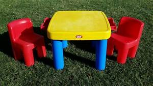 Little Tikes Table And Chair Set Vintage Little Tikes Child Size Table Chunky Chairs Set Orange
