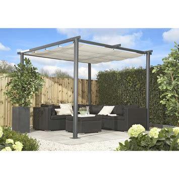 terrasoverkapping aluminium karwei paviljoen valencia 272x272x230 cm antraciet wit