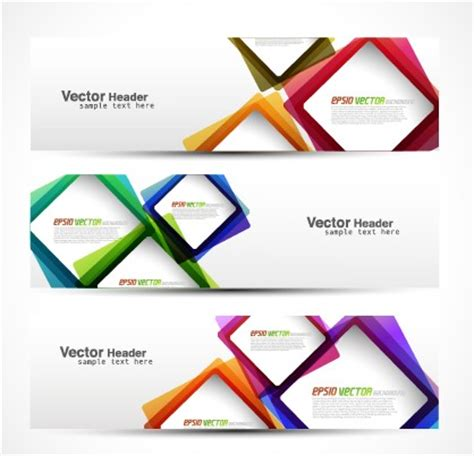 design banner vector heard of modern banner design elements 02 vector banner free