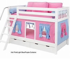 Maxtrix Bunk Bed Tents For Kids Pink, Light Blue