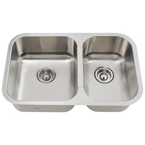 double stainless steel kitchen sink mr direct undermount stainless steel 28 in double basin