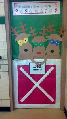 decorating an elementary school for christmas 1000 images about d 233 corations de portes hiver on elementary door and