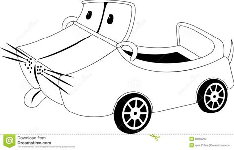 cartoon car black and white cartoon car stock vector image 48260290
