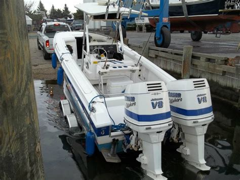 Scarab V8 Boat by 250hp Johnson V8 Outboards 2950 00 The Hull