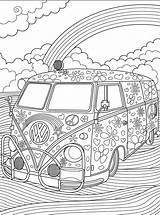 Coloring Minivan Van Pages Hippie Printable Getcolorings Luxury sketch template