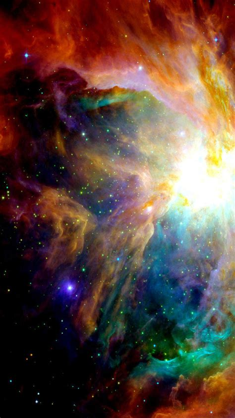 colorful galaxy illustration smartphone wallpaper getphotos