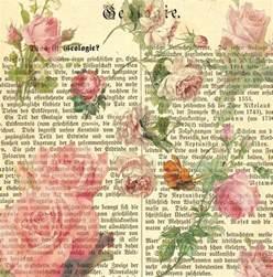 Free Printable Scrapbook Paper Vintage Rose