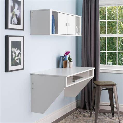 prepac designer wall mounted floating desk white wehw