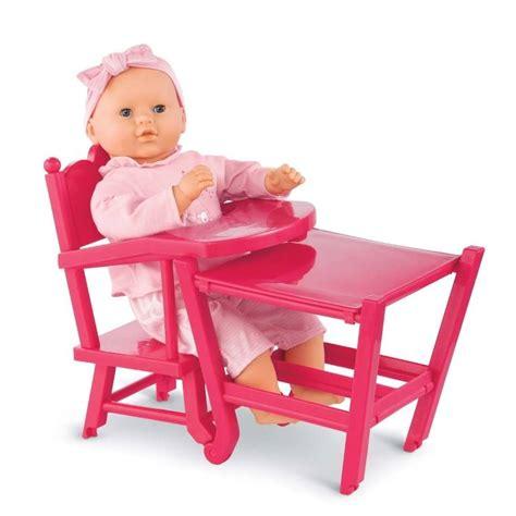 chaise haute poup e corolle chaise haute pour poupée cerise