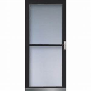 Shop LARSON 32-in W Black Retractable Screen Storm Door at