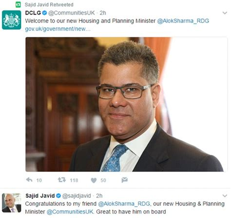 Arrows the UK Housing Minister