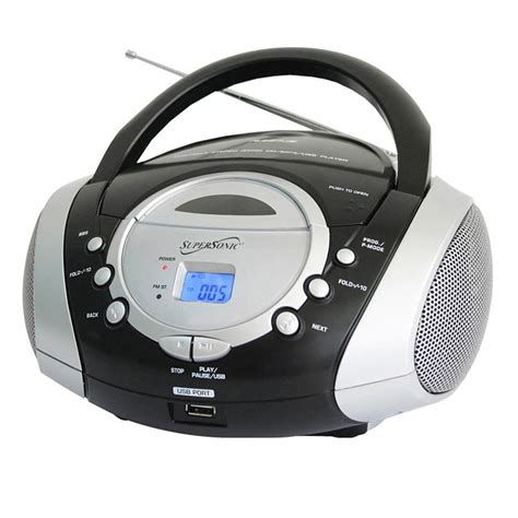 cd player mp3 supersonic portable audio system mp3 cd player with usb
