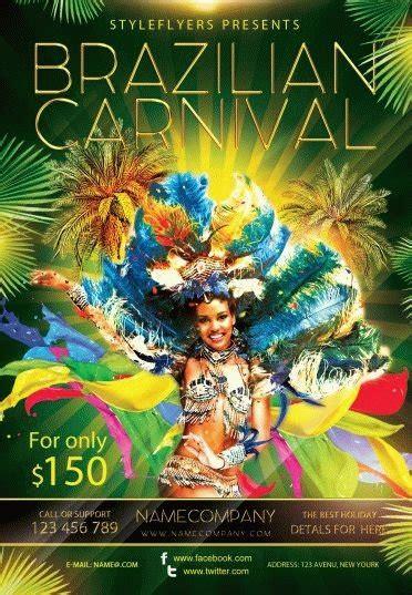 brazilian carnival flyer template brazilian carnival travel psd flyer template 5649