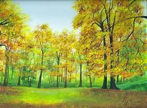 Bilder Bäume Gemalt : waldlichtung im herbst acrylgem lde zeitgen ssische malerei in bildern und videos ~ Orissabook.com Haus und Dekorationen