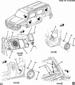 2006 2010 gm hummer h3 amplifier subwoofer sub speaker With please feel free to look at the schematic of the device provided above