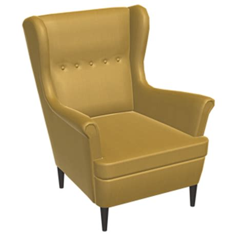 strandmon wing chair yellow free try out of ikea products in 3d vr and ar
