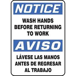 Free Sign Wash Hands Before Returning to Work