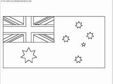Coloriage drapeau australien à imprimer et à colorier