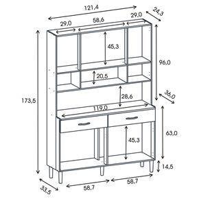 Kit mueble cocina 121x174x36 cm Blanco en 2020 Muebles