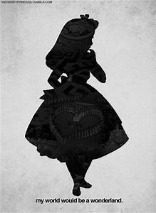 silhouette alice | Alice In Wonderland | Pinterest