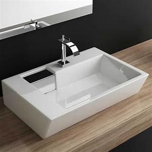Waschbecken Kleines Badezimmer : design waschbecken klein mit form eckig und tiefe 45cm sowie material keramik mit ~ Sanjose-hotels-ca.com Haus und Dekorationen