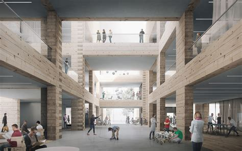 high school and community centre project tests the limits of timber log construction archdaily
