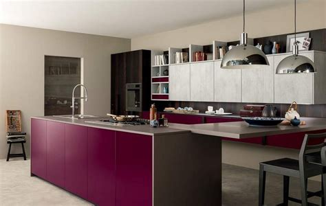 cuisine aubergine et grise couleur pour cuisine 105 idées de peinture murale et façade