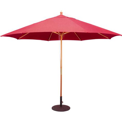 galtech 11 ft wood patio umbrella with pulley lift light