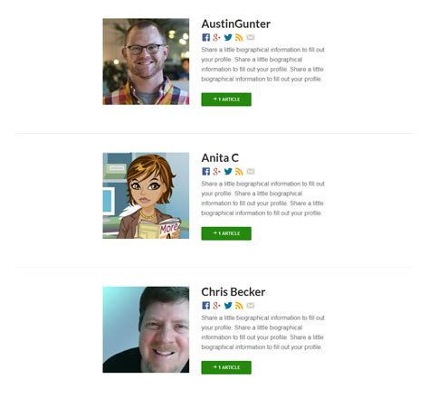 author page template genesis wp authors page template with social media links