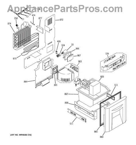ge wrx icemaker pan appliancepartsproscom