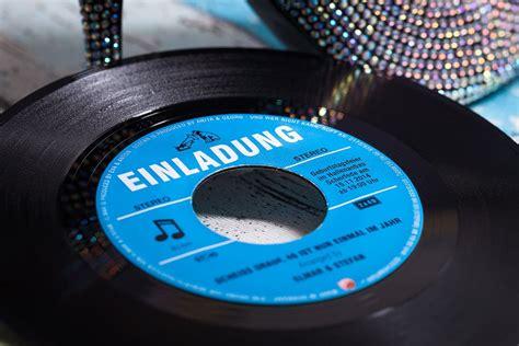 schallplatte als einladungskarte columbiaoriginal vinyl