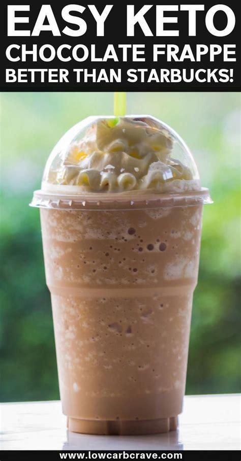 Starbucks secret menu | diy starbucks frappuccino no coffee. Easy Sugar-Free Keto Chocolate Frappuccino Recipe. This Low carb homemade frappe tastes just as ...