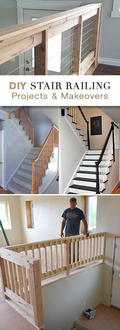 DIY Stair Railing Projects & Makeovers   Cable, Stair