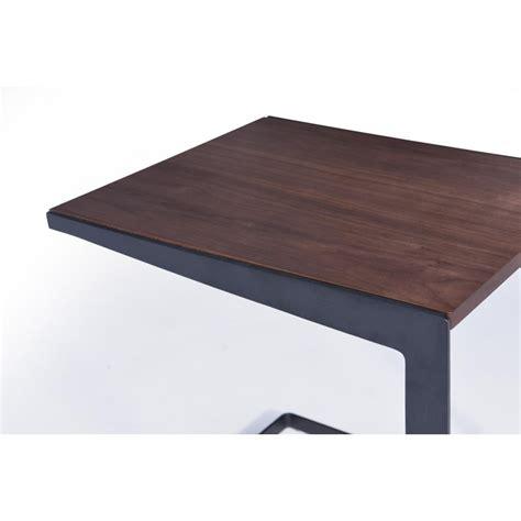 bout de canapé romy rectangulaire contemporain table table d 39 appoint bout de canapé vintage magen en bois noyer