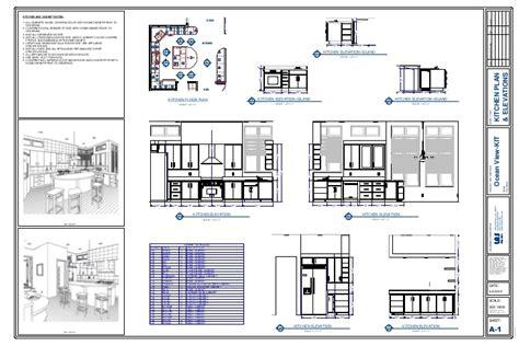 Kitchen Plan & Elevation Drawing