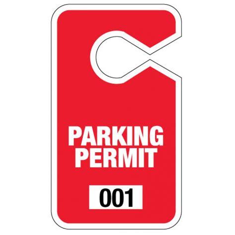 Parking Hang Tag Free Shipping! Large Red Parking Hang