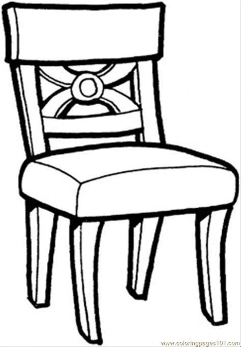 dessin chaise coloring pages kitchen chair other gt furnitures free