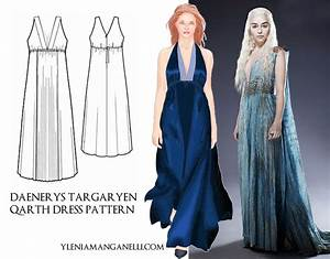 Daenerys Targaryen Qarth Dress Cosplay Costume TUTORIAL ...
