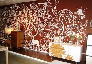 beautiful wall painting stencils to play up the walls With interior decoration wall stencils