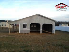 Residential Polebarn Building Pittsgrove Tam Lapp Construction Llc Effective Porch Flooring Options