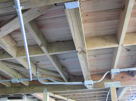 how to install a ceiling fan box electrical wiring under deck home improvement stack exchange