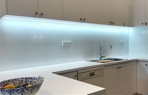Led Kitchen Lighting Perth by White Glass Splashback White Splashbacks Perth Splashbacks